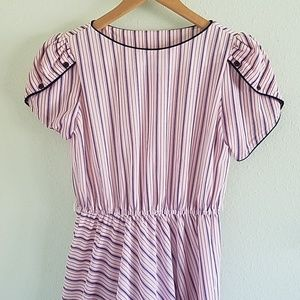 Vintage Swing Dress with Button Sleeves